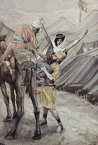 Kidnapping - The abduction of Dinah, (watercolor circa 1896–1902 by James Tissot)
