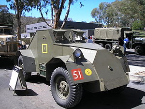 Dingo scout car at the 2007 Australian War Memorial open day.jpg