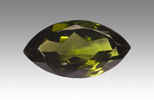 Diopside faceted