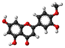 Ball-and-stick model of diosmetin