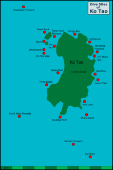 Map of Scuba Diving sites