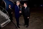 Dominican Chief of Protocol Gomez Greets Secretary Kerry Upon Arrival in Santo Domingo (27587822471).jpg