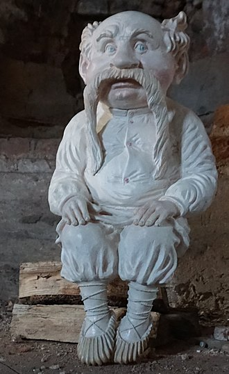Domovoy - Modern representation of Domovoy, by Belarusian sculptor Anton Shipitsa on the base of illustrations by Valery Slauk.