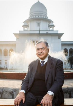 Kamal Hossain - Image: Dr. Kamal Hossain in front of Bangladesh Supreme Court