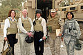 Dr. Patricia Kavanagh (left), assistant professor at Downstate Medical Center in Brooklyn, NY, stands with fellow doctors and collegues on Camp Ramadi in Iraq. She and Dr. Michael Carey (2nd from DVIDS108520.jpg