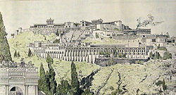 Drawing of ancient Pergamon