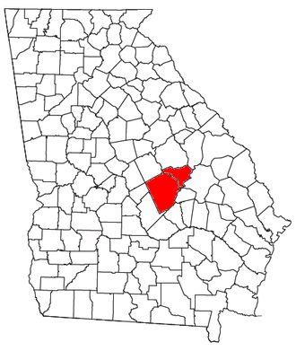 Dublin, Georgia, micropolitan area - Location of the Dublin Micropolitan Statistical Area in Georgia