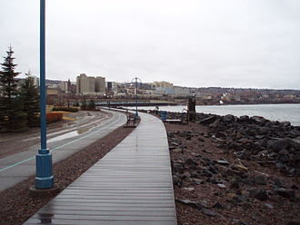 Canal Park, Duluth - Lakewalk in spring