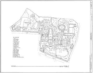 Site plan of Dumbarton Oaks, 3101 R Street, No...