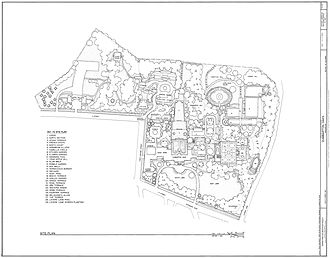 Dumbarton Oaks - Dumbarton Oaks site plan