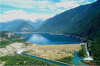 Columbia River Treaty - Image: Duncan Dam Pic