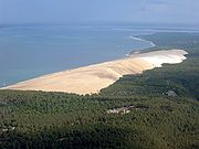 The Great Dune of Pyla is the largest dune in Europe.