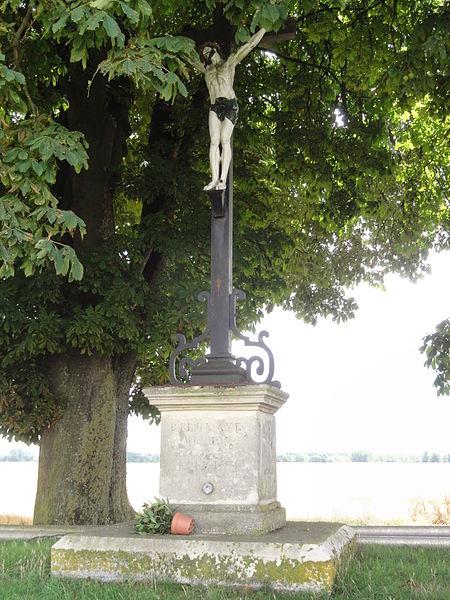 Dury (Aisne) croix de mission (croix de chemin)