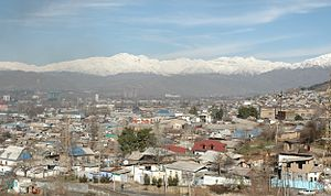 Panoramic view of Dushanbe
