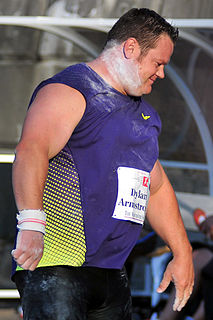 Dylan Armstrong Canadian shot putter
