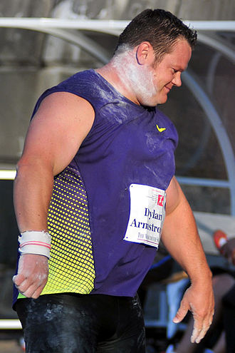 Athletics at the 2010 Commonwealth Games - Dylan Armstrong, men's shot put champion