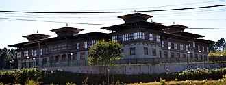 Tsirang District - Tsirang Dzong at Damphu, Bhutan.