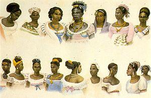 Português: Escravas negras oriundas de diversa...