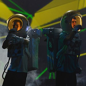 Who See - Noyz (left) and Dedduh of Who See at the Eurovision Song Contest 2013.