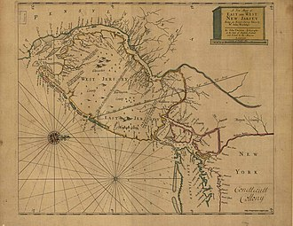 Province of New Jersey - 1706 Map of East and West Jersey