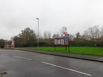 East Garforth railway station - Image: East Garforth railway station (8th November 2014) 001