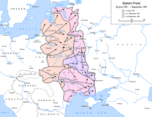 Battle of Smolensk (1941) - The Eastern front at the time of the Battle of Smolensk.