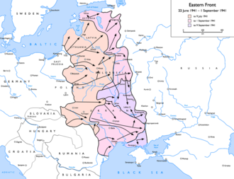 Defense of Brest Fortress - The Eastern Front at the time of the Battle of Brest.