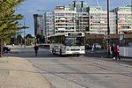 Photo of an Eastrans bus in Docklands, 2012.