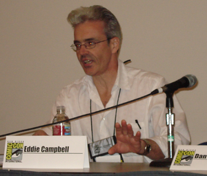 Eddie Campbell - Eddie Campbell at the San Diego Comicon in 2008.