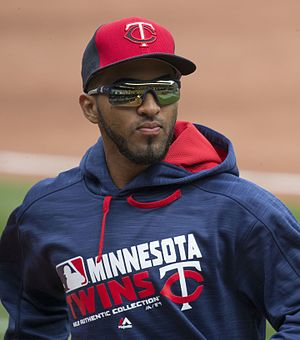 Eddie Rosario - Rosario with the Minnesota Twins in 2016