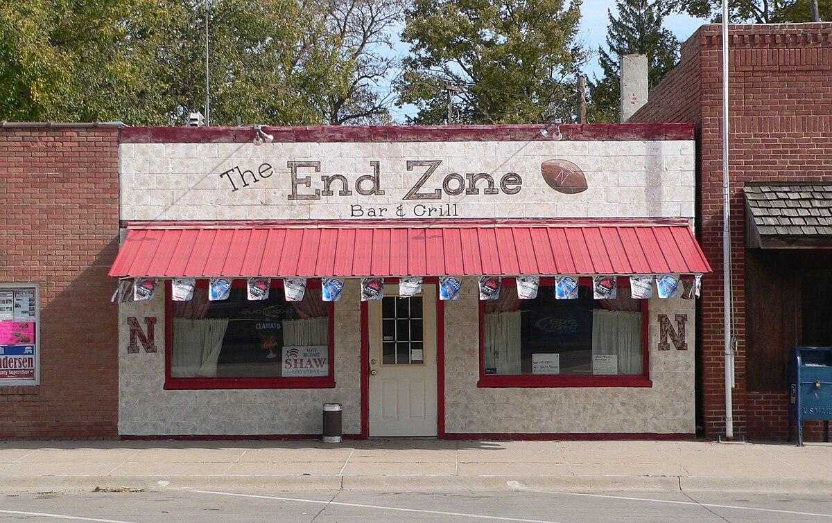 Edgar, Nebraska C Street 06 End Zone Bar.JPG
