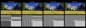 Overscan - Image: Effects of overscan on fixed pixel displays