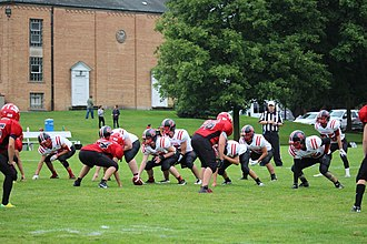 "Eight-man football - Eight-man football ""I-Formation"""