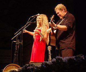 Sebastian (singer) - Sebastian performing with Eivør Pálsdóttir at the 2006 Tønder Festival.