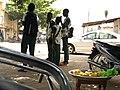 Eléves du CEG Yamadjako a la sortie du cours. cotonou -Bénin.jpg