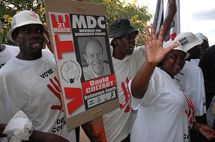 Supporters of the Movement for Democratic Change in 2005. Election campaign March 2005.jpg
