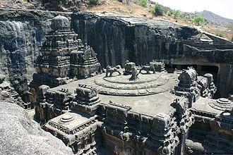 Culture of Maharashtra - God Shiva temple in ellora caves