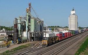 Elm Creek, Nebraska - The Union Pacific Railroad's main line runs through Elm Creek.