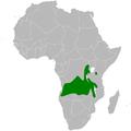 Elminia albicauda distribution map.png