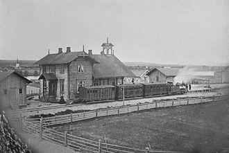 History of rail transport in Norway - Image: Elverum 1stasjon