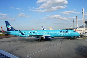 Azul Brazilian Airlines - Azul's Embraer 195 with livery of Azul Viagens, the airline's travel operator