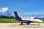 Embraer Phenom 300 at Christmas Island Airport.jpg