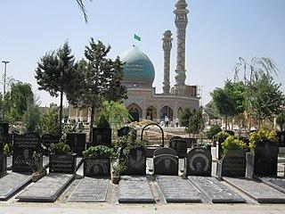 Emamzadeh Taher imamzadeh and cemetery in Karaj, Iran