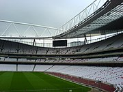 Interior of the stadium, near the end of construction.