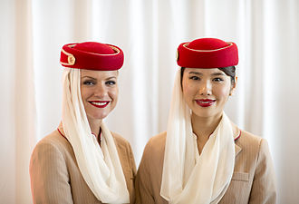 Emirates (airline) - Emirates cabin crew attendants