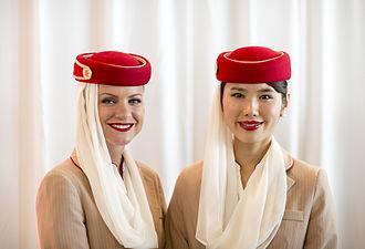 Emirates (airline) - Emirates cabin crew attendants