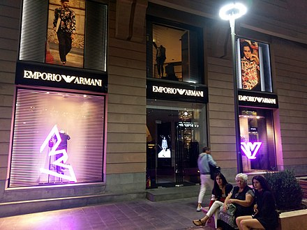Emporio Armani at Yerevan's Northern Avenue Emporio Armani Yerevan, Northern Avenue.jpg