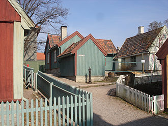 Enerhaugen - Houses from former Enerhaugen, now at Norwegian Museum of Cultural History at Bygdøy
