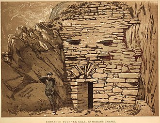 Saint Medan - Entrance to Inner Cell, St. Medan's Chapel, Kirkmaiden; by Herbert Maxwell, 1885