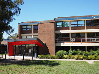 Melrose High School (Canberra) - The entrance to Melrose High School's main building